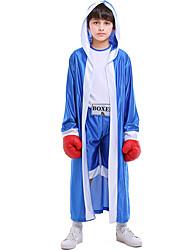 cheap -Boxer Halloween Props Kid's Boys' Halloween Halloween Festival / Holiday Knitting Blue / Red Carnival Costumes / Leotard / Onesie / Cloak