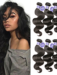 cheap -6 Bundles Malaysian Hair Body Wave Virgin Human Hair Unprocessed Human Hair Headpiece Natural Color Hair Weaves / Hair Bulk Bundle Hair 8-28 inch Natural Natural Color Human Hair Weaves Newborn Gift