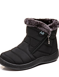 cheap -Women's Boots Low Heel Round Toe Faux Leather Booties / Ankle Boots Casual / Minimalism Winter Black / Brown / Red / Slogan