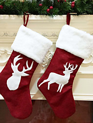 cheap -Christmas sock gifts Christmas tree decoration stockings hanging sock ornaments children candy bag gift Christmas decoration for home