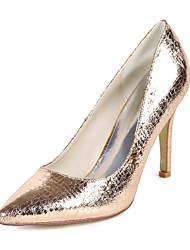 cheap -Women's Heels Stiletto Heel Pointed Toe Animal Print PU Minimalism Fall / Spring & Summer Champagne / Light Purple / Silver / Party & Evening