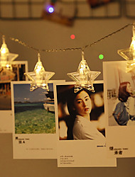 cheap -3m String Lights 20 LEDs Warm White RGB White Creative Party Star Photo Clip Light Birthday Party Atmosphere Lights Decorative USB Powered 1 set