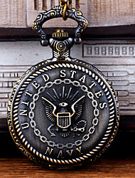 cheap -Men's Pocket Watch Quartz Vintage Style Bronze Creative New Design Cool Analog - Digital Vintage - Bronze