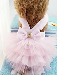 Недорогие -Собаки Платья Одежда для собак Светло-синий Зеленый Розовый Костюм Полиэстер Полоски Свадьба S M L XL