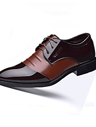 cheap -Men's Comfort Shoes PU Fall Casual Oxfords Wear Proof Color Block Black / Brown / Party & Evening