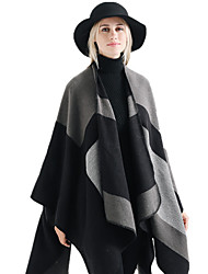 cheap -Women's Active Rectangle Scarf - Print / Color Block Washable