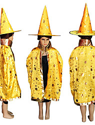cheap -Children'S Carnival Clothing Wizard Costume Halloween Costume Witch Cape Role Play
