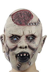 cheap -1 PCS latex Halloween mask skeleton terrorist face mask moving the latex head explodes the brain