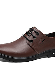 cheap -Men's Formal Shoes PU Fall Oxfords Black / Brown / Party & Evening / Party & Evening