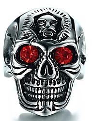 cheap -Men's Ring 1pc Silver Imitation Diamond Alloy irregular Vintage Trendy Ethnic Daily Jewelry Vintage Style Skull