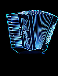 cheap -Colorful Accordion Model 3D Night Light LED 3D Stereo Illusion Table Lamp