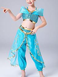 cheap -Kids' Dancewear / Dance Costumes Outfits Girls' Training / Performance Elastane Paillette Sleeveless High Skirts / Vest
