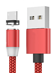 cheap -Micro USB Cable 1.0m(3Ft) Braided / Magnetic / Quick Charge Nylon / Luminescent Cable For Samsung / Huawei / LG
