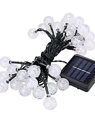 Недорогие -6,8 млн Гирлянды 30 светодиоды 1 комплект Тёплый белый Работает от солнечной энергии / Декоративная Солнечная энергия