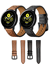 cheap -Watch Band for Huawei Watch 2 / Samsung Galaxy Watch Active Samsung Galaxy / Huawei Classic Buckle / Business Band Genuine Leather Wrist Strap
