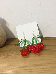 cheap -Women's Earrings Beads Strawberry Earrings Jewelry Red For Gift Daily Festival 1 Pair