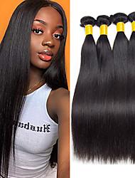 Недорогие -3 Связки Бразильские волосы Прямой Натуральные волосы 300 g Накладки из натуральных волос 8-28 дюймовый Естественный цвет Ткет человеческих волос Горячая распродажа Пролить бесплатно Tangle Free / 8A