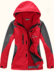 cheap -Women's Hiking Jacket Winter Outdoor Patchwork Waterproof Windproof Warm Comfortable Top Camping / Hiking / Caving Traveling Winter Sports Fuchsia / Yellow / Green / Red / Blue