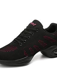 cheap -Women's Dance Shoes Mesh Dance Sneakers Sneaker Thick Heel Black / Black / Red / White