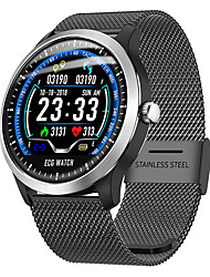 cheap -Smartwatch Digital Modern Style Sporty Genuine Leather 30 m Water Resistant / Waterproof Heart Rate Monitor Bluetooth Digital Casual Outdoor - Black Brown Silver
