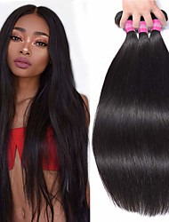 cheap -3 Bundles Hair Weaves Vietnamese Hair Straight Human Hair Extensions Remy Human Hair 100% Remy Hair Weave Bundles 300 g Natural Color Hair Weaves / Hair Bulk Human Hair Extensions 8-28 inch Natural