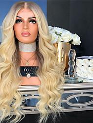Недорогие -Парики из искусственных волос Естественные кудри Стиль Средняя часть Машинное плетение Парик Золотистый Отбеливатель Blonde Искусственные волосы 26 дюймовый Жен. Женский Золотистый Парик Длинные