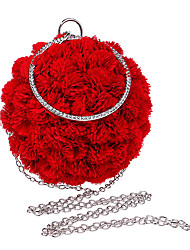 Недорогие -Жен. Цветы Полиэстер Вечерняя сумочка Сплошной цвет Розовый / Красный