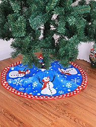 cheap -1pcs Christmas Tree Skirt Carpet 80cm  Decoration For Home T Aprons New Year Decoration