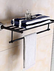 cheap -Towel Bar Creative / Elegant Multifunction Antique / Traditional Brass / Ceramic Bathroom Double Wall Mounted