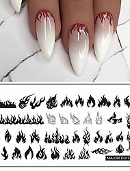 cheap -1 pcs Major flame dolphins Dijit brand series nail printing template is white card back