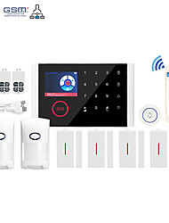 cheap -WIFI+GSM Multi-network Language Wireless Gsm Burglar Alarm Wifi Home Alarm Host Wireless Doorbell Alarm System Others / Home Alarm Systems / Alarm Host GSM + WIFI iOS / Android Platform GSM + WIFI