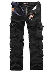 cheap -Men's Hiking Pants Hiking Cargo Pants Winter Outdoor Warm Soft Comfortable Multi-Pocket Cotton Pants / Trousers Bottoms Black Army Green Khaki Coffee Camping / Hiking / Caving Traveling S M L XL XXL