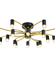cheap -16 Bulbs 16-Head Nordic Style Metal Ceiling Lamp Semi Flush Modern Living Room Dining Room Bedroom Ceiling lights