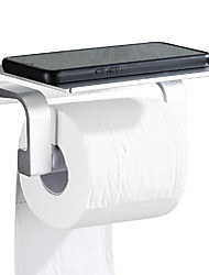 abordables -Porte Papier Toilette Design nouveau / Cool Moderne Aluminium / Acier inoxydable 1pc Montage mural