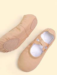 cheap -Girls' Ballet Shoes Canvas Flat Flat Heel Customizable Dance Shoes Black / White / Almond / Performance