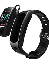 cheap -DMDG Smart Wristband Bluetooth Fitness Tracker Built-in Wireless Headphone Support Notify/ Heart Rate Monitor Compatible Samsung/ Iphone/ Android Phones