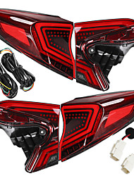 cheap -Pair Red Lens LED Flash Car Rear Tail Brake Light Lamps For Toyota CHR 2018-2019
