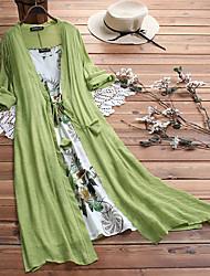 cheap -Women's Swing Dress Maxi long Dress Blue Yellow Blushing Pink Green Half Sleeve Geometric Round Neck Hot Loose M L XL XXL 3XL 4XL 5XL / Plus Size / Plus Size