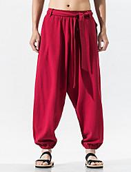 cheap -Men's Basic Chinos Pants - Solid Colored Black Wine Gray US32 / UK32 / EU40 US34 / UK34 / EU42 US36 / UK36 / EU44