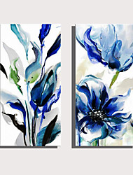 cheap -Print Rolled Canvas Prints Stretched Canvas Prints - Botanical Floral / Botanical Modern Art Prints