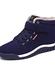cheap -Men's Snow Boots Cowhide Winter Casual Boots Hiking Shoes / Walking Shoes Warm Black / Green / Blue / Outdoor