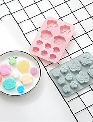 Недорогие -2шт мыло ручной работы 10ccat щипцы для силиконового торта с 3d следы щенка