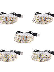 cheap -2m Flexible LED Light Strips 120 LEDs SMD3528 8mm Warm White / White / Red Creative / Party / Decorative 5 V 5pcs