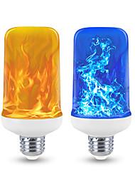 cheap -1pc LED Flame Effect Light Blub Corn Lights 4 Modes Yellow Blue Light 6W E27 E26 Base Halloween Christmas Home Decoration Garden Decoration Lights AC 85-265V