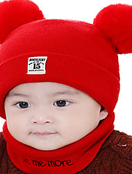 cheap -Kids / Toddler Boys' / Girls' Active / Basic / Sweet Solid Colored / Number Stylish / Knitting Cotton / Roman Knit Hats & Caps Blushing Pink / Yellow / Blue One-Size