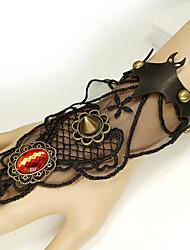 cheap -Women's Red Vintage Bracelet Ring Bracelet / Slave bracelet Earrings / Bracelet Vintage Style Bat Statement Vintage Trendy Gothic Fashion PU Leather Bracelet Jewelry Black For Halloween / Resin