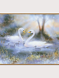 cheap -Framed Art Print Framed Set - Landscape Animals PS Oil Painting Wall Art