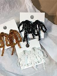 cheap -Women's Earrings Tassel Fringe Butterfly S925 Sterling Silver Earrings Jewelry Black / Light Coffee / White For Gift Daily Festival 1 Pair