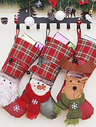 cheap -Christmas Gifts Christmas Socks Santa Socks Candy Gift Bags Christmas Tree Decoration Pendant Christmas Socks