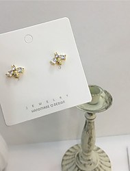 cheap -Women's Earrings Classic Joy S925 Sterling Silver Earrings Jewelry Gold For Gift Daily Festival 1 Pair